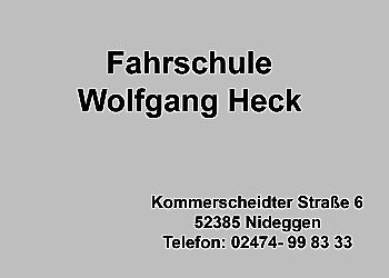 Heck, Wolfgang – Fahrschule