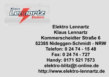 Lennartz, Klaus – Elektro