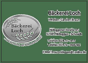 Loch, Ehel. Braun – Baeckerei
