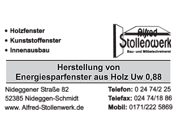Stollenwerk, Alfred – Schreinerei