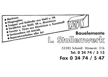 Stollenwerk, Ludwig – Bauelemente, Edelstahlarbeiten