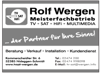 Wergen, Rolf -TV- Sat, Multimedia