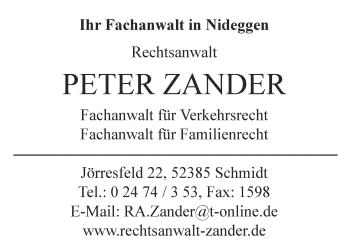 Zander, Peter – Rechtsanwalt